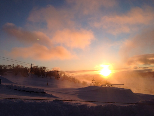 Sunrise in Perisher Valley