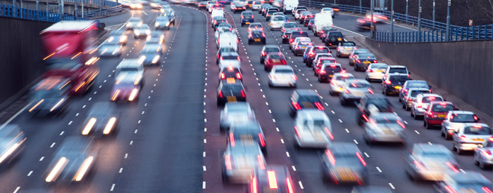 Busy motorway